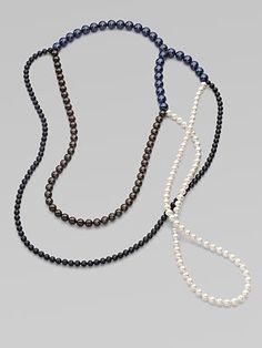 FLorian Multi-Color Pearlized Bead Necklace
