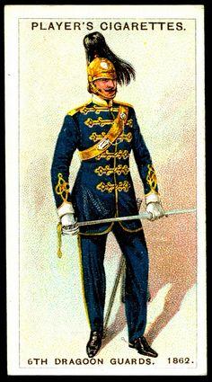 Cigarette Card - 6th Dragoon Guards, 1862