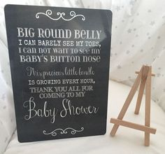 A5 Baby Shower Thank You For Coming Table Sign Decoration With Easel | eBay