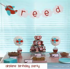 Airplane party for Landon's 2nd! Totally going red and turquoise. :)