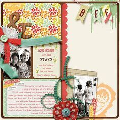 Pocket Stories 2 Templates by Etc. by Danyale   Besties Paper, Elements and Journal Cards by Sabrina Dupre
