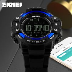 Smart Watch New men Sports Wristband SKMEI 1226 Watches Call Message Reminder pedometer Calories bluetooth waterproof watch - Online Shopping for Watches