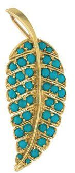 Jennifer Meyer 18K Turquoise Leaf Pendant. Turquoise jewelry. I'm an affiliate marketer. When you click on a link or buy from the retailer, I earn a commission.