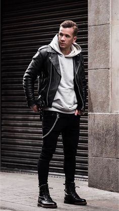 26 Clean street style outfits from this influencer! Brown Leather Jacket Men, Leather Jacket Outfits, Vintage Leather Jacket, Rebel Fashion, Look Fashion, Mens Fashion, Fashion Outfits, Guy Outfits, Stylish Mens Outfits