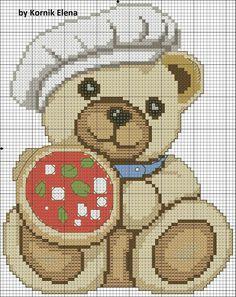 Schemi che mi piacciono Cross Stitch For Kids, Crochet Animals, Betty Boop, Animals For Kids, Cross Stitching, Beading Patterns, Pixel Art, Cross Stitch Patterns, Teddy Bear