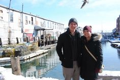 Seagulls are the worst photobombers! One of our February foodie couples posing behind Harbor Fish Market for a photo.