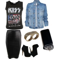 i would chose a ramones shirt instead but love the skirt!