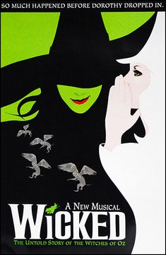 "I'd really like my poster to be framed in a ornate white wood frame with a 2"" green mat matching Elphaba's skin (maybe with a green or black .5"" inner mat?) . <3"
