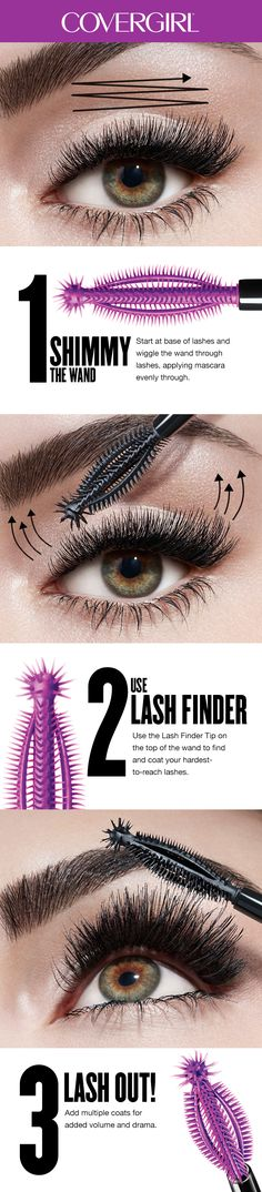 Learn how to apply COVERGIRL So Lashy! Mascara using this easy, breezy tutorial. These helpful tips and tricks are the best way to get bold, dark, sexy lashes with huge drama, no matter your lash type.