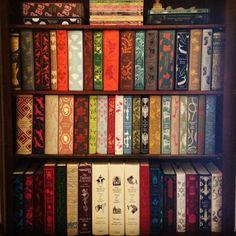 My super obsession. Penguin clothbound classics designed by #CoralieBickfordSmith. #ilovebooks  www.alisonsmith.com