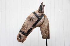 Antique horse head