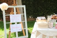 #candy bar comunion niña #mesa de dulces comunion niña #rustic party ideas #garden party ideas