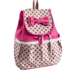 DAKIA Girl's Lovely Bowknot Leisure Super Cute Canvas Backpack School Bag for Student (pink)  - Click image twice - See a larger selection of little girls backpacks at http://kidsbackpackstore.com/product-category/little-girls-backpack/ - kids, juniors, back to school, kids fashion ideas, school supplies, backpack, bag , teenagers, girls, boys, gift ideas