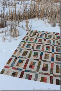 City Slicker quilt pattern by Highway 10 Designs. Made with a batik Jelly Roll Picnic Blanket, Outdoor Blanket, City Slickers, Jellyroll Quilts, Machine Quilting, Quilt Making, More Fun, Quilt Patterns, Pattern Design