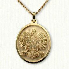 Sterling intaglio polish eagle pendant with antiquing 5 sizes polish eagle gold necklace mozeypictures Images