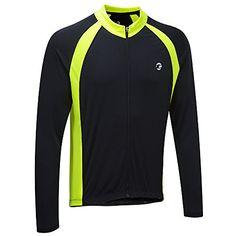 4d4024ed8 Tenn Mens Sprint LS Cycling ShirtJersey BlackHiViz Yellow Lrg    For more  information