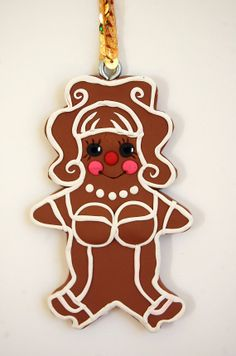 Gingerbread Drag Queen by sewhard on Etsy, $12.00