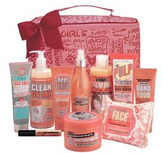 Soap and Glory. UK skincare and makeup brand. Available at Sephora. Supposedly smells amazing, and does what it says!