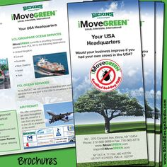 Brochures designed & printed for iMoveGreen