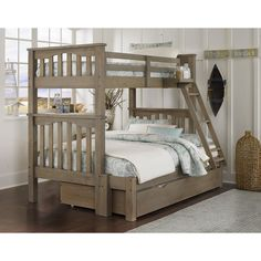 Highlands Harper Twin over Full Bunk Bed - Create a space that offers a casual style and relaxing comfort with the Highlands Harper Twin over Full Bunk Bed. This beautiful bunk bed set features...