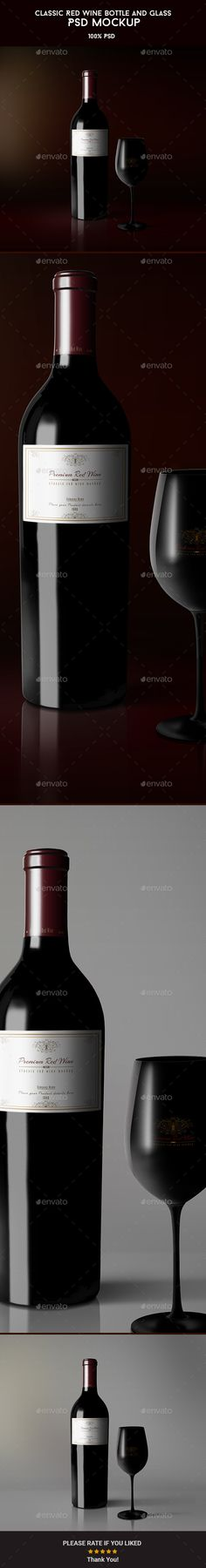 Classic Red Wine Bottle and Glass Mockup #design Download: http://graphicriver.net/item/classic-red-wine-bottle-and-glass-mockup/11252347?ref=ksioks