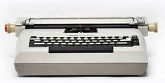 Lexikon 82 electric typewriter designed by Mario Bellini.