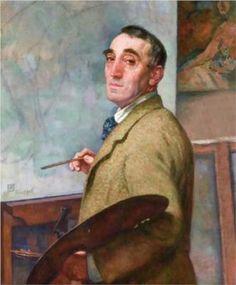 Theo van Rysselberghe  (Belgian:1862 – 1926)  - Self Portrait (1916)