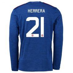 Manchester United 16-17 Ander #Herrera 21 Udebanesæt Lange ærmer,245,14KR,shirtshopservice@gmail.com