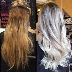 Such an inspiring transformation! Brassy orange to polished platinum. Color by…