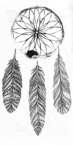 dreamcatcher with different feathers <3