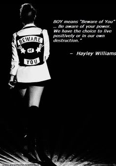 #hayleywilliams #quote