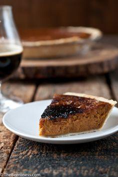 Bruleed Pumpkin Beer Pie | Community Post: 32 Ingenious Ways To Eat Pumpkin All Day Long