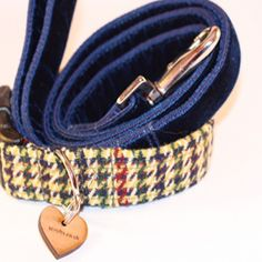 D'Arcy Tweed Dog Collar and Lead Set