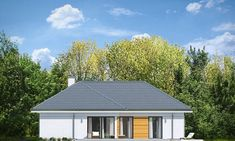 Projekt domu Parterowy- 118.23m2 - koszt budowy 184 tys. zł Home Fashion, Planer, Bungalow, House Plans, Garage Doors, Shed, Outdoor Structures, Cabin, Contemporary