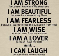 Be yourself and be confident