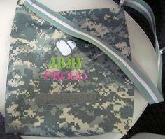 ACU tote bag handmade ARMY PROUD lined bag by DarLynDesigns, $24.99