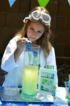 Kara's Party Ideas Mad Scientist Science Boy Girl Birthday Party Planning Ideas