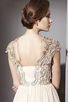 Love the appliques! -- Beading Appliques Skirt Sleeves Full Length High Waist Dresses EDU81082
