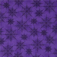 "purple Halloween fabric    by Robert Kaufman    Collection ""Eerie Alley"""