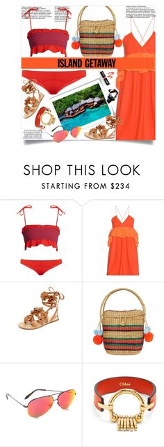 """Chic Island Getaway!!"" by stylediva20 ❤ liked on Polyvore featuring Lisa Marie Fernandez, Victoria, Victoria Beckham, KAROLINA, Tory Burch, Sophie Anderson, Victoria Beckham, Chloé and islandgetaway"