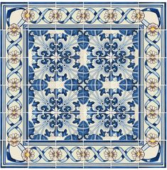 Repetitive Pattern Portuguese Ceramic Tiles