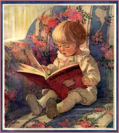 "Jessie Willcox Smith  ""A Quiet Corner "" 1920 