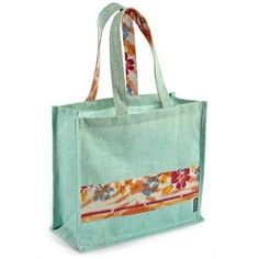 @WorldCrafts Neesha Tote- Jute tote handmade in India by women who have been freed from sexual exploitation. Each tote features fabric from old saris. Great for busy moms! #fairtrade #set1free #MothersDay