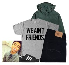 """""""No new friends, no new friends"""" by love331 ❤ liked on Polyvore featuring adidas Originals and Abercrombie & Fitch"""