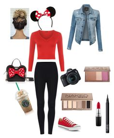 """""""Minnie Mouse inspired Disney trip"""" by mariela-lopez-cruz on Polyvore featuring WearAll, Converse, Kate Spade, LE3NO, Eos, MAC Cosmetics, NARS Cosmetics, Urban Decay and Sephora Collection"""