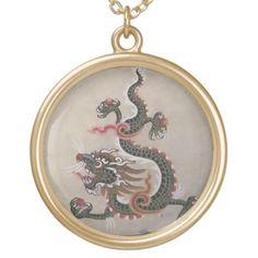 Dragon Pendant Necklace http://www.zazzle.com/rinchen365flower*