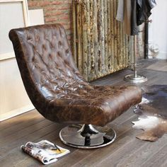 Fauteuil cuir Bossley