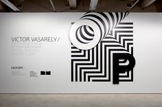 "Our assignment was to create a visual identity for Victor Vasarely's ""Optical… Victor Vasarely, Environmental Graphic Design, Environmental Graphics, Web Design, Layout Design, Signage Design, Brand Design, Booth Design, Banner Design"