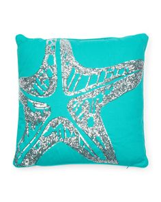 image of Starfish Pillow With Sequins