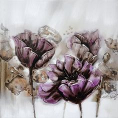 Yosemite Home Decor FCF6476Q-2 Burgeoning Blossoms II Abstract Still Life Hand Painting    Consider decorating with purple accents if you love the look of purple home decor. It does not matter if you like violet, lavender, lilac, amethyst or more of a muave purple. Rest assured you will find your perfectly purple paradise.     I love the look of purple modern wall art, purple accent pillows and trendy purple decorative accents to spread all over my home.  This works well with my ultra modern…